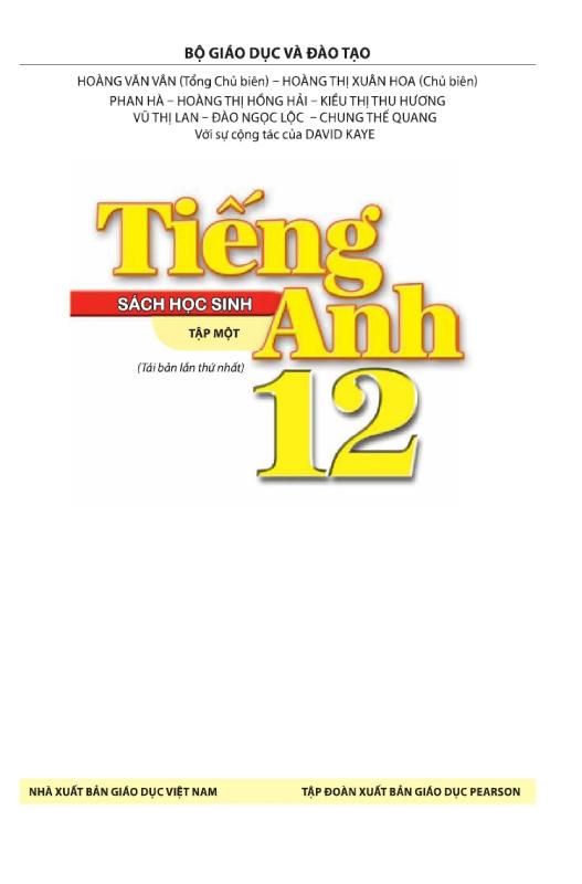 Sách Học Sinh Tiếng Anh 12 Tập 1